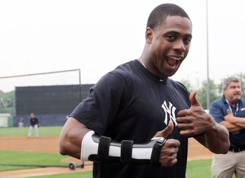 Curtis Granderson won't be swinging a bat for the Yankees in April.