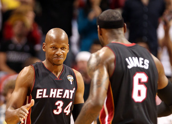Ray Allen appears to enjoy playing with the world's best player.