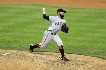 Sergio Romo opens the season as the closer.