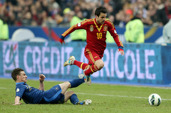Spain posed little threat apart from Pedro's strike