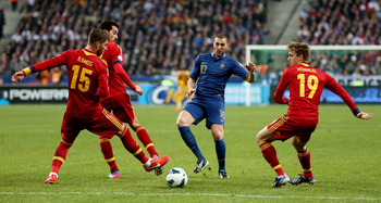 France were punished for their weakness on the flanks by Pedro's finish