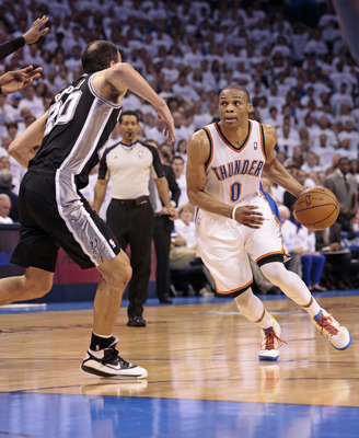 Westbrook's half-court shot against the Spurs was questionable, at best.