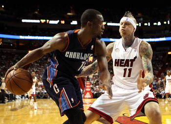 Chris Andersen guards the Charlotte Bobcats' 	Michael Kidd-Gilchrist during a March 24 game.