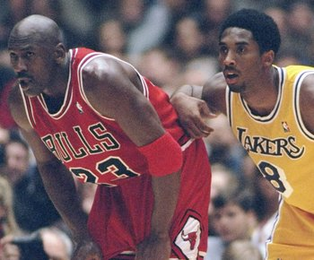 Chicago Bulls' Michael Jordan, Los Angeles Lakers' Kobe Bryant
