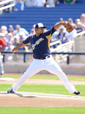 Brewers pitching prospect Wily Peralta has already earned a spot in the rotation.