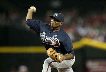 Julio Teheran earned the fifth starter's spot this spring.