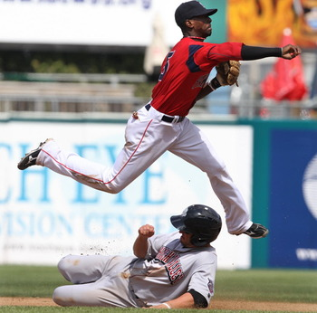 Pedro Ciriaco could be a temporary fill-in for Middlebrooks at third base. Image via ProvidenceJournal.com
