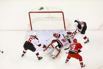 Brodeur showed no signs of lingering back trouble.