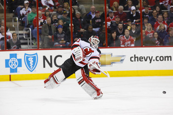Brodeur has scored cleaner goals than the one he got credit for against Carolina.