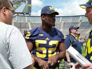 Royce Jenkins-Stone is climbing up the depth chart for the Wolverines. Photo courtesy of Flickr.com.