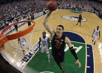 Alex Len, a center from the University of Maryland, could be available for the Wizards to pick up in the NBA Draft come June.