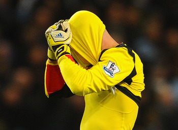 Pepe Reina's reaction to a costly lapse in judgement against Manchester City.