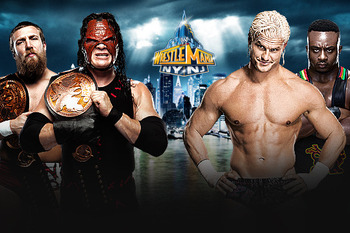 Team Hell No vs. Dolph Ziggler/Big E Langston (photo courtesy of WWE.com)