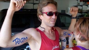 Corey Hanrahan a San Diego attorney has guns a blazing to run with Team Hoyt
