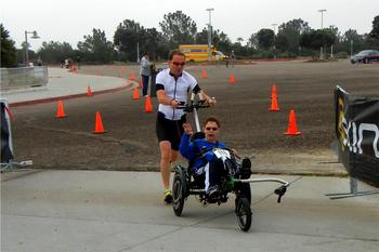 Jim Pathman and his sons make up Team Pathman and compete in triathlons Team Hoyt style.