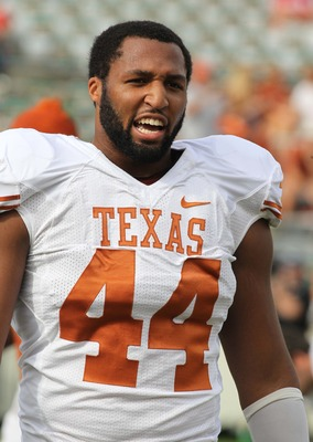 Jackson Jeffcoat is one of many Longhorns who had to spent time on the sideline this spring due to injury.