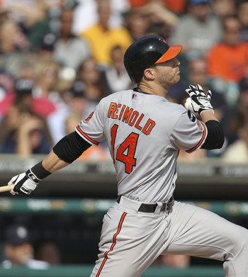 Nolan Reimold suffered yet another injury-plagued season for the Orioles in 2013.