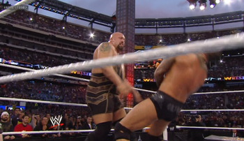 Orton takes a KO Punch from Big Show