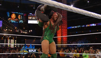 Ryback got Henry up for Shel Shocked...twice!