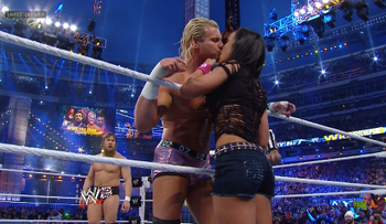 Aj almost costs another boyfriend a victory with a kiss of death