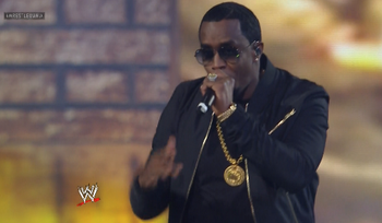 Diddy Performs Live At Wrestlemania 29