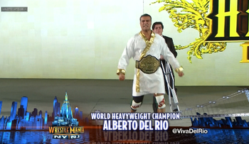 Del Rio broke out a special robe for WrestleMania 29
