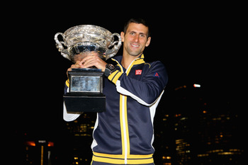 2013 Australian Open champion Novak Djokovic