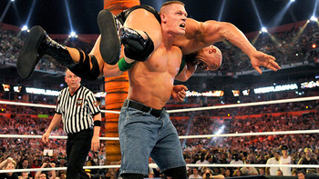 Is this how WrestleMania 29 ends? (Photo from WWE.com)