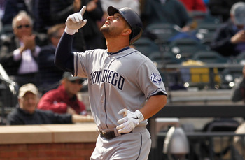 Yonder Alonso provided a spark for an otherwise punchless San Diego lineup.