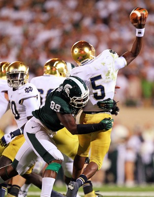 One of the few times the Spartans got to Golson