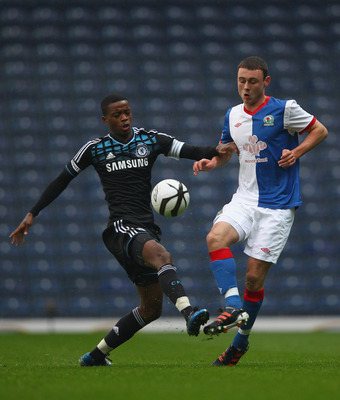 Chelsea's Nathanial Chalobah, shown here against Blackburn Rovers in the FA Youth Cup Final's second leg on May 9, 2012, is one of the top prospects in Chelsea's youth system.