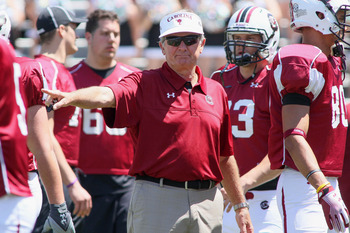 Steve Spurrier has to replace quite a few players this spring, including RB Marcus Lattimore.