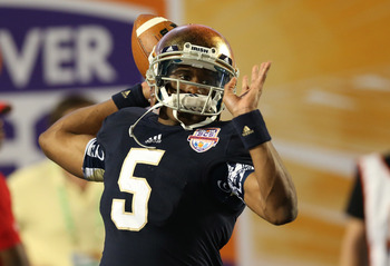 Everett Golson will be a huge piece of the puzzle for Notre Dame's 2013 squad.