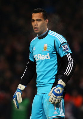LONDON, ENGLAND - JANUARY 16:  Michel Vorm of Swansea City looks on during the FA Cup with Budweiser Third Round Replay match between Arsenal and Swansea City at the Emirates Stadium on January 16, 2013 in London, England.  (Photo by Jan Kruger/Getty Imag