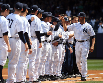 Mariano Rivera experiences the Opening Day ceremonies for the final time in his decorated career