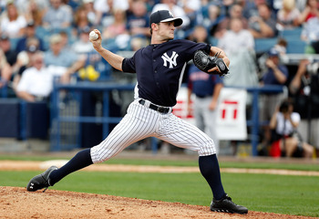 David Robertson delivers a pitch toward home plate during a March 20 exhibition game against the Boston Red Sox