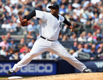 CC Sabathia continued his Opening Day struggles on Monday against the Boston Red Sox at Yankee Stadium