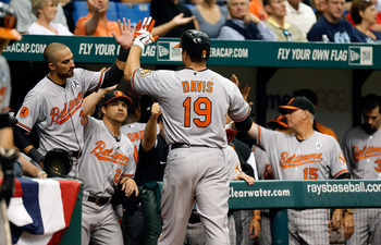 Chris Davis blasted a three run homer in the top of the seventh inning.