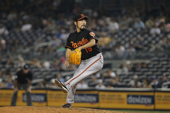 Having little success with the Orioles as a starter, Uehara established himself as a strong reliever for the Orioles.