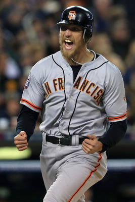 Hunter Pence was an emotional leader for the Giants in 2012.