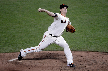Matt Cain is the leader of the Giants' pitching staff.