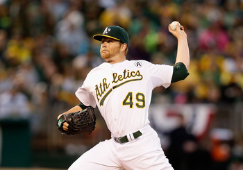 Oakland A's ace and Opening Day starter Brett Anderson.