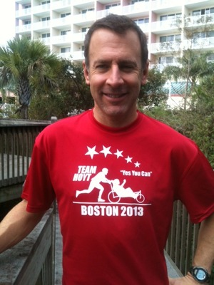 Robert Lapointe will be running his first Boston as a member of Team Hoyt.