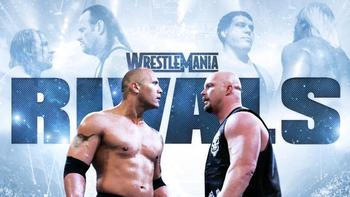 The Rock vs. Steve Austin (Photo from WWE.com)