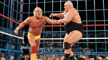 Hulk Hogan vs. King Kong Bundy (Photo from WWE.com)