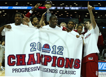 Indiana celebrating after winning the Legends Classic