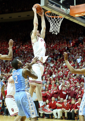 Cody Zeller dunking the ball against North Carolina
