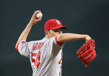Jaime Garcia notched his first and the Cardinals' first win of the 2013 season Tuesday night against the Diamondbacks.