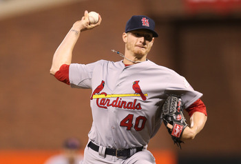 Shelby Miller throws a pitch in Game Two of the NLCS against San Francisco last season.