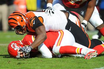 Eating quarterbacks is part of Geno Atkins' diet.